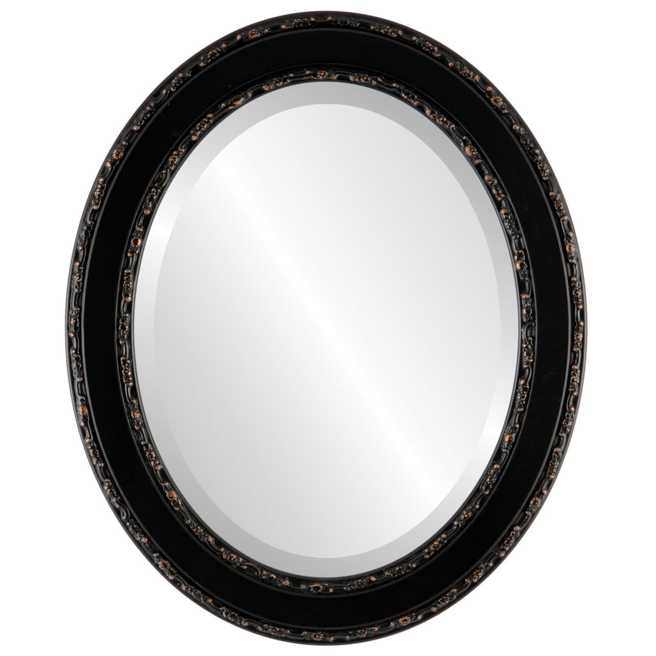 The Oval and Round Mirror Store Monticello Framed Oval Mirror in Rubbed Bronze Antique Bronze by Overstock