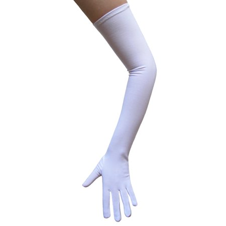 SeasonsTrading White Costume Gloves (Opera Length) - Prom, Dance, Party (Promo Costumes)