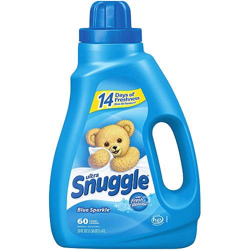 Snuggle Blue Sparkle With Fresh Release Liquid Fabric Softener, 50 oz