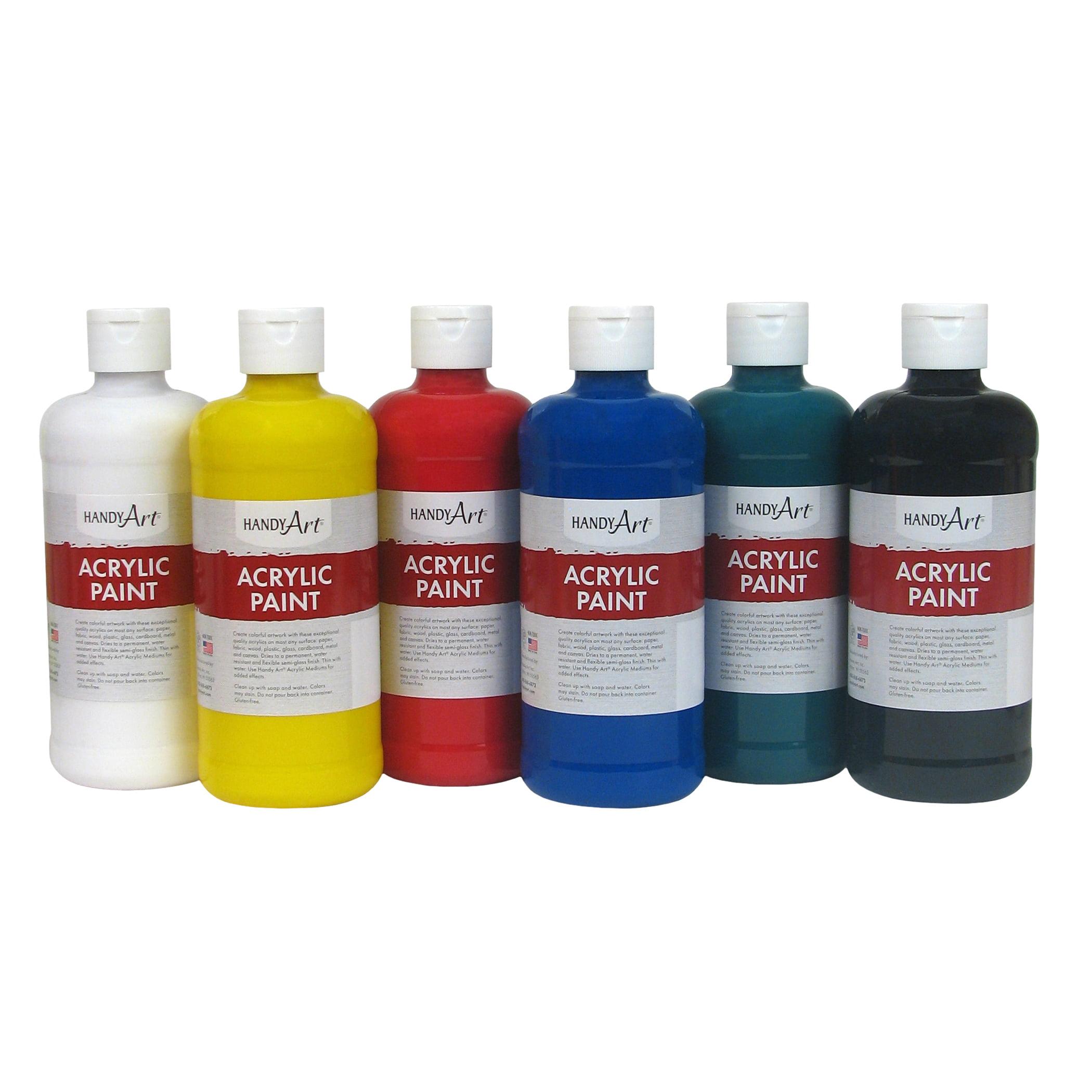Handy Art® Acrylic Paint, 16 oz, Set of 6