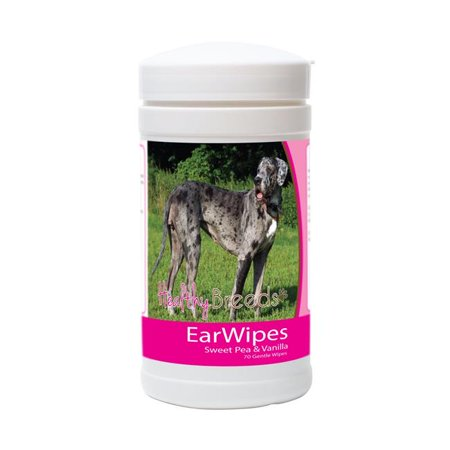 Healthy Breeds 840235173359 Great Dane Ear Wipes - 70 Count - image 1 de 1