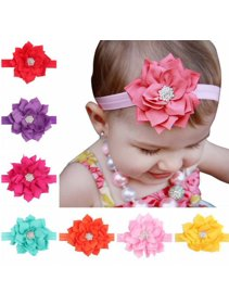 8 Pieces Girl Baby Girls Infant Boutique Wave Hair Flower Headband Hair Bow  Band fb82ad3700d6