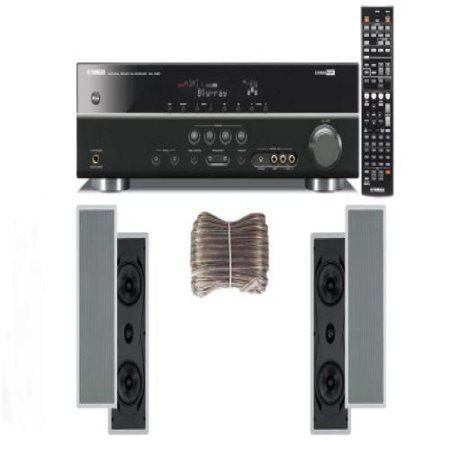 Yamaha 3D-Ready 5.1-Channel 500 Watts Digital Home Theater Audio/Video Receiver with 1080p-compatible HDMI repeater & Upgraded CINEMA DSP With a USB Digital Input and Connecting Cable to Play & Charge
