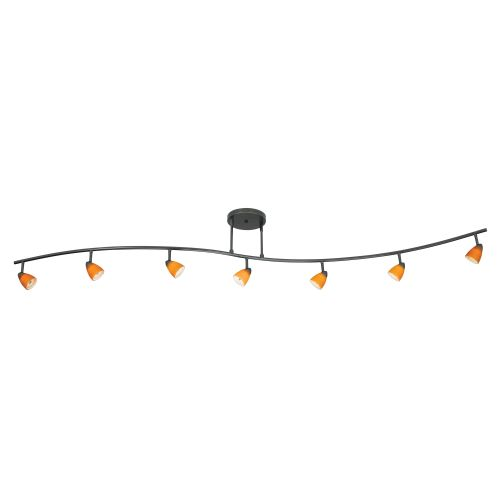 "Cal Lighting 954-77L-AM Seven Light with Depth Serpentine Light with 60"" Wire wi by CAL Lighting"