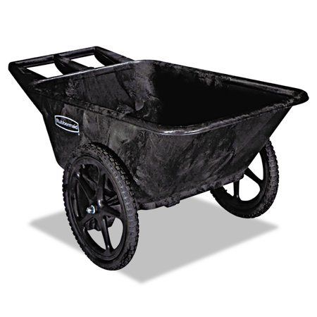 (Rubbermaid Commercial Big Wheel Agriculture Cart, 300-lb Cap, 32-3/4 x 58 x 28-1/4, Black)