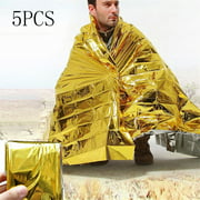 Hotwon Outdoor Emergency Solar Blanket Survival Safety Insulating Mylar Thermal Heat