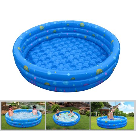 Inflatable GPCT [52 INCH] Collapsible Bathing In-Home/Ball Pit Kiddie Baby Swimming Pool. Durable, Heavy Duty, Bathing Bath Tub Wash Pond Water Washer For Toddlers, Dogs, Cats, Pets  ()