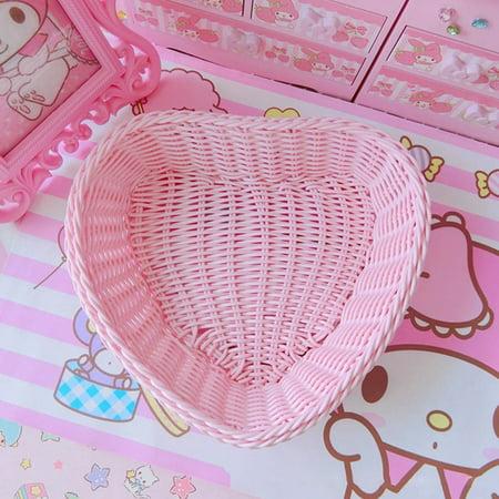 KABOER Cute Ice Cream Color Princess Preparation Storage Basket Desktop Debris Bag