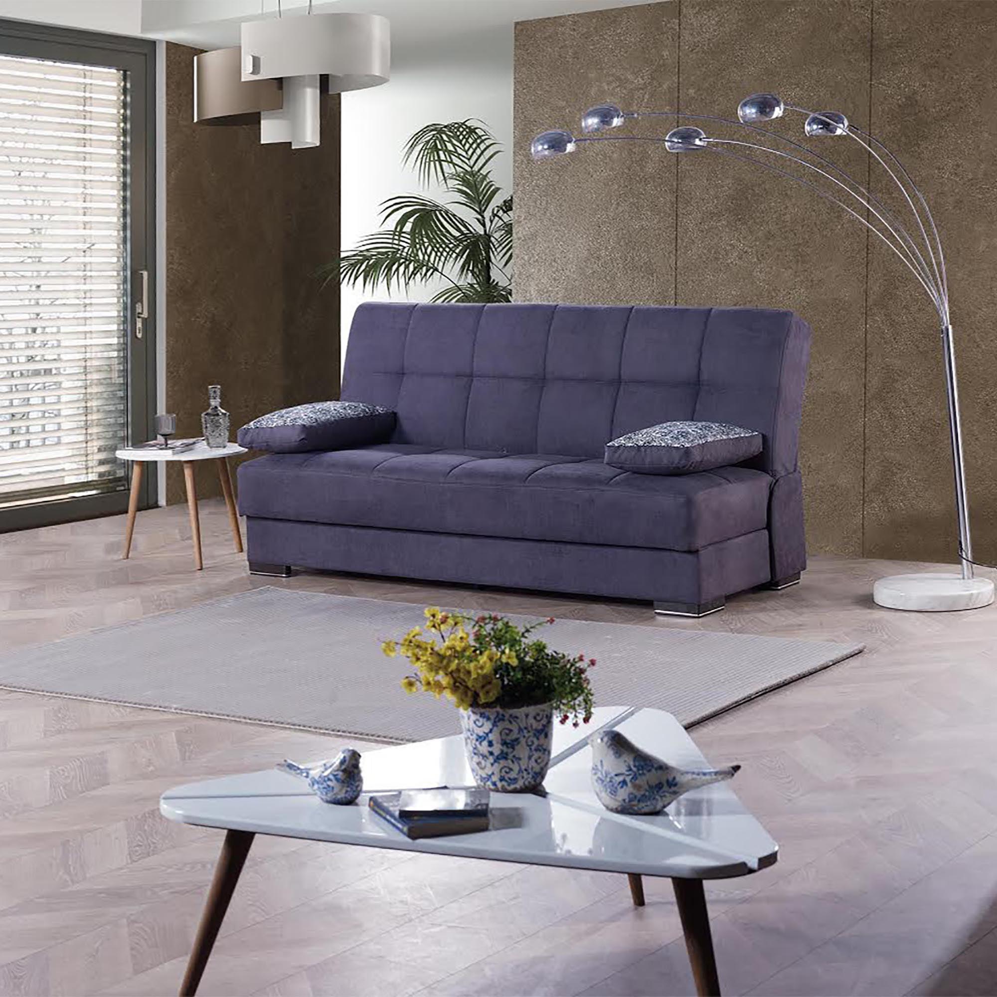 Soho Armless Sleeper Sofa Bed with Storage   Walmart.com ...