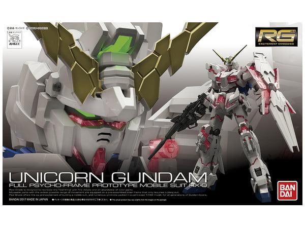 Bandai Hobby Gundam UC Unicorn Gundam Real Grade RG 1 144 Model Kit by Bandai Hobby