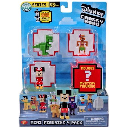 Crossy Road Series 1 Rex, Timon, Minnie & Mystery Figure Mini Figure - Crossy Road Characters Halloween