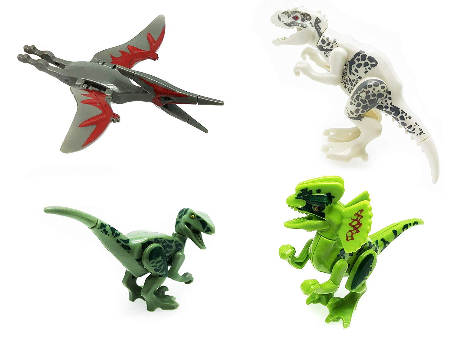 Great Stocking Stuffer! Includes 8 Different Dinos Block Style Dinosaurs