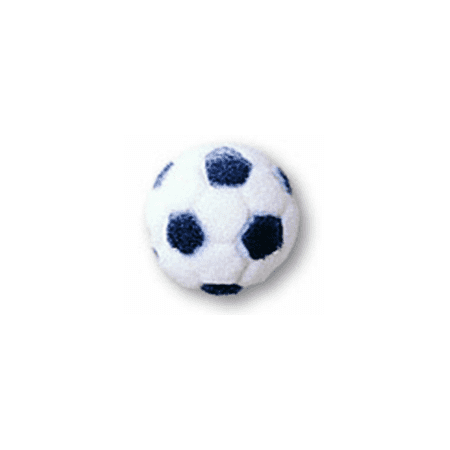 Set of 12 Soccer Ball 1inch Edible Sugar Cake & Cupcake Decoration - Soccer Cake Pops