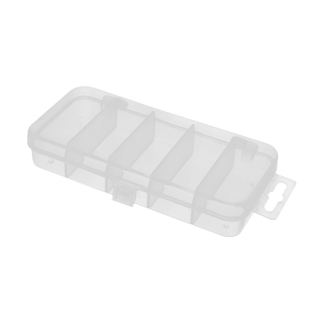 Plastic 5 Compartments Fishing Lure Bait Tackle Tool Storage Box Case Clear by Unique-Bargains