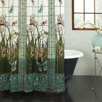 "Mainstays Stain Glass PEVA Shower Curtain, 70"" x 71"""