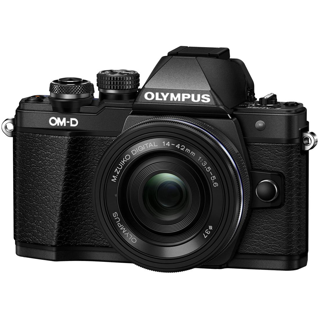 Olympus OM-D E-M10 Mark II Mirrorless Digital Camera w  14-42mm EZ Lens (Black) by Olympus