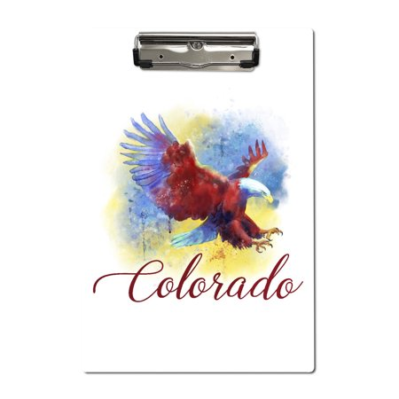 Colorado - Eagle - Watercolor - Lantern Press Artwork (Acrylic Clipboard)