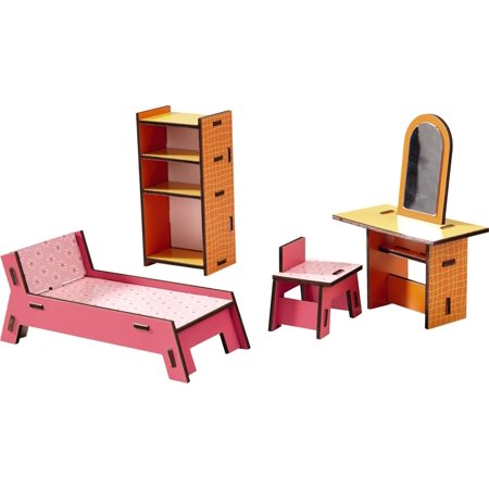 HABA Little Friends Beauty Corner - Dollhouse Furniture for 4