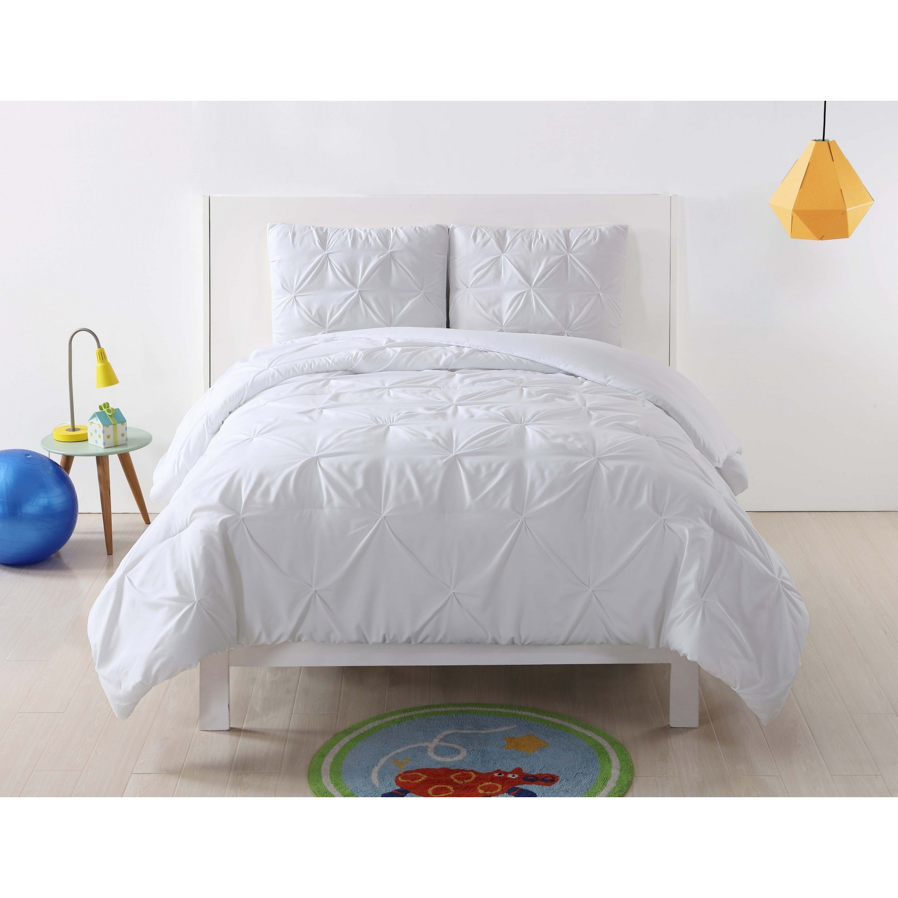 Laura Hart Kids Pleated Blush Twin XL Duvet Set