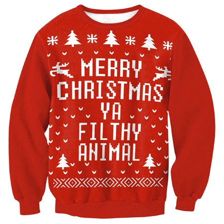2a67769f0343 Super soft and warm ugly Christmas hoodies for women, Cuteness Red Color  Xmas sweater for