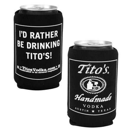 Tito's Vodka I'd Rather Be Drinking Tito's Can Cooler, Officially licensed Tito's Vodka product By Titos Vodka,USA