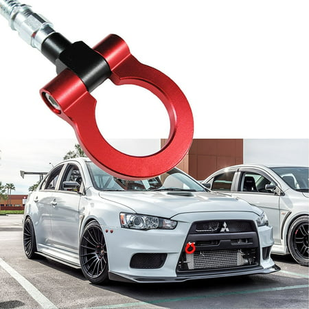 Xotic Tech JDM Sports Red Track Racing Style CNC Aluminum BUMPER Tow Hook For Mitsubishi 2008-2016 Lancer Evolution Evo X (Mitsubishi Lancer Evo 2 Fast 2 Furious)
