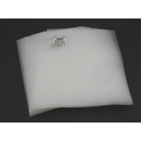 LOT 7-Mesh Plastic Canvas- 50 Sheets- 10.5 x 13.5 Inch Darice