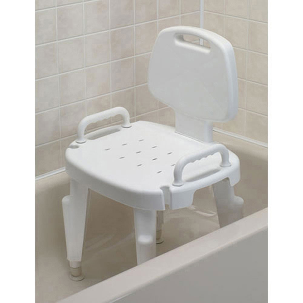 Ableware 727142121 Adjustable Shower Seat w/ Arms and Back