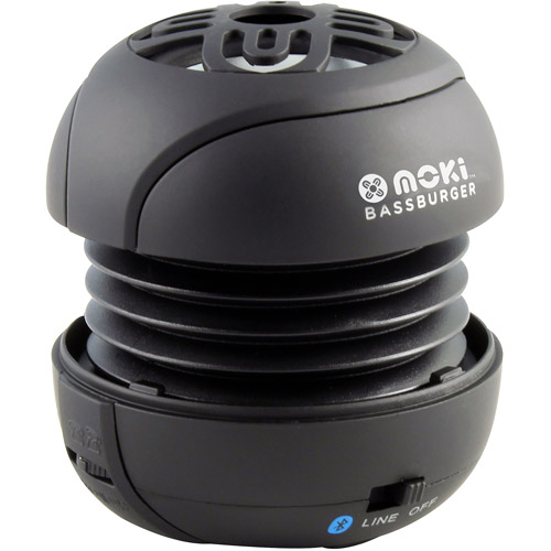 Moki BassBurger Portable Bluetooth Speaker with Microphone, Black