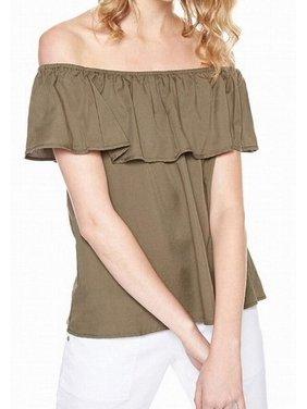 98d2b4c75dc832 Product Image Sanctuary NEW Fatigue Green Womens Medium M Ruffled Popover  Knit Top