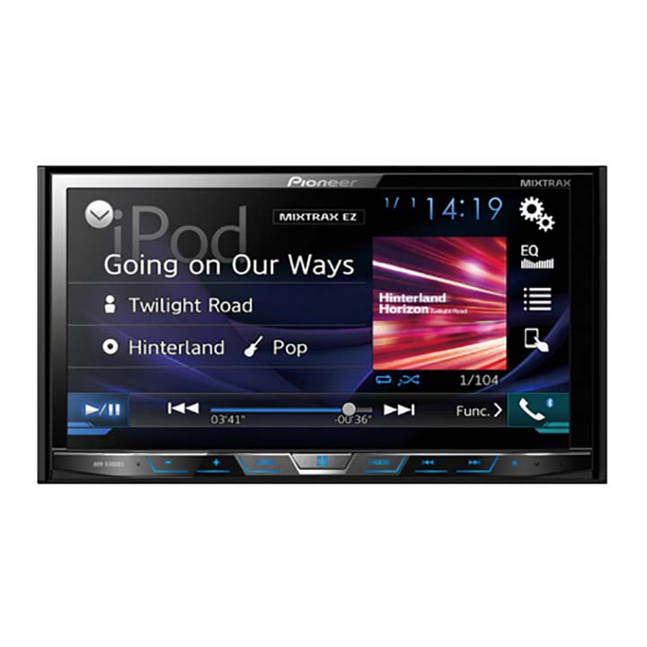 "Pioneer AVH-X490BS 7"" Double-DIN In-Dash DVD Receiver with Bluetooth and SiriusXM Ready"