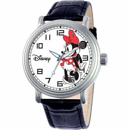 Minnie Mouse Men's Vintage Watch, Black Strap](Vintage Witch)