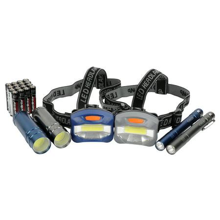 Ozark Trail 6-Piece Led Flashlight and Penlight and Headlamp (Best Headlamp For Photographers)