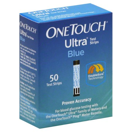 OneTouch Ultra Blue Blood Glucose Test Strips, 50
