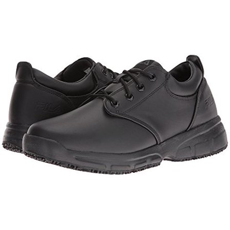 1be1651e Fila MEMORY BLAKE Black Slip Resistant Oxford Memory Foam Work Shoes
