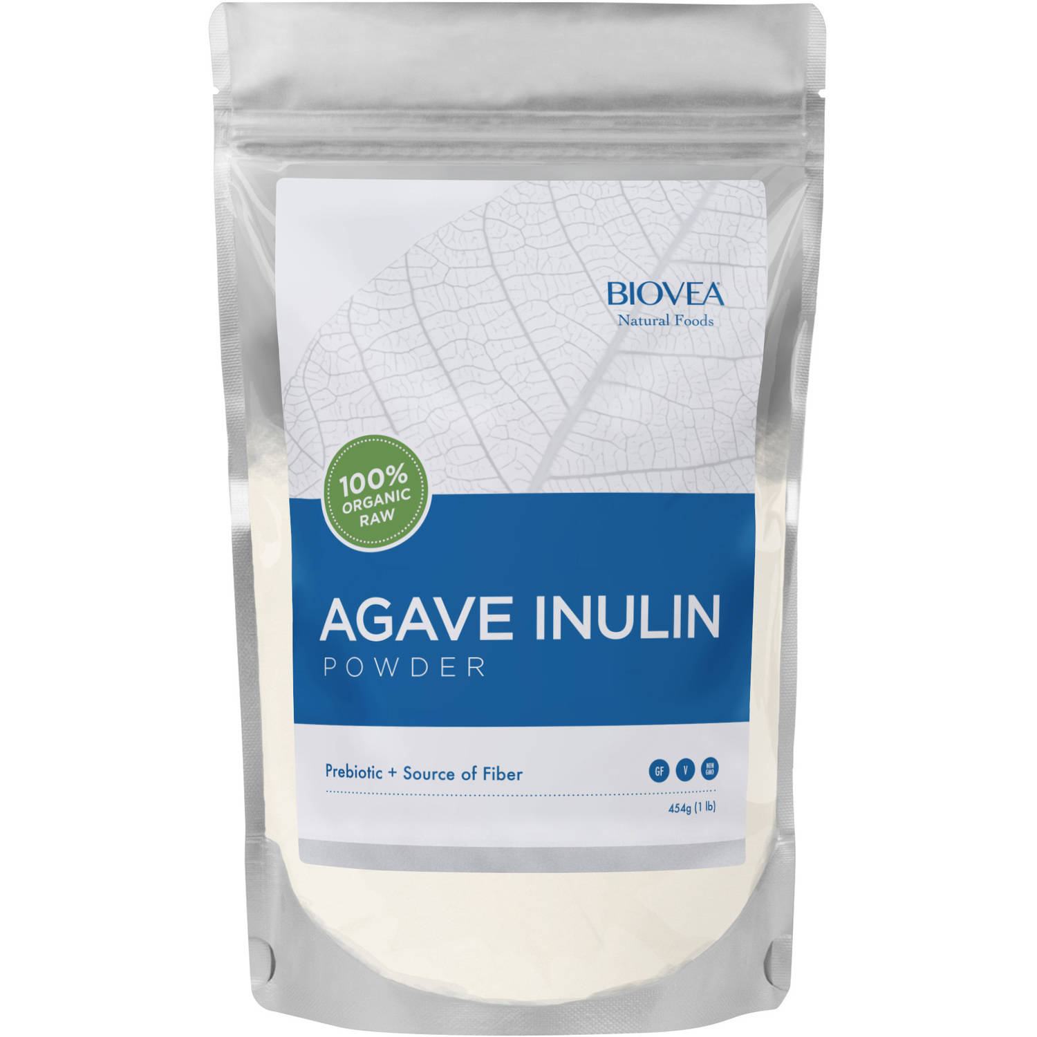 BIOVEA 100% Organic Raw Agave Inulin Powder, 16 oz