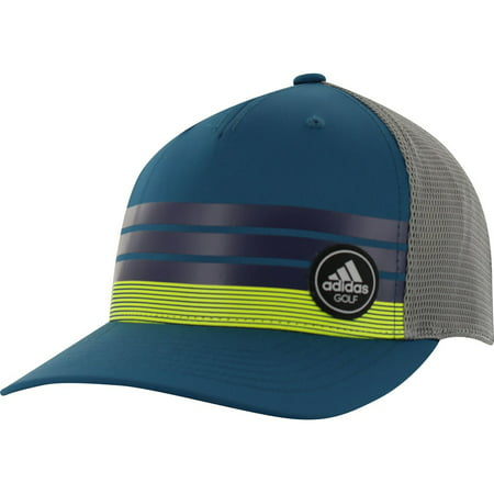 - NEW Adidas Golf Stripe Trucker ClimaCool Blue/Yellow Adjustable Snapback Hat/Cap
