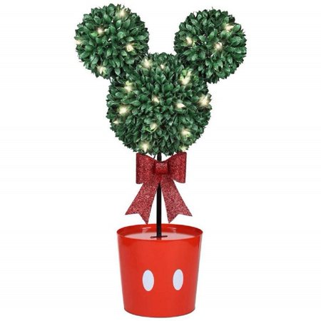 Disney Mickey Mouse LED Topiary Tree Christmas Decoration, White