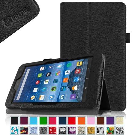 Amazon Fire 7 2015 5th Gen Folio Case - Fintie Slim Fit Premium Vegan  Leather Standing Protective Cover Case