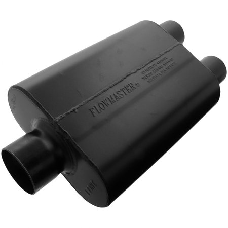Flowmaster 9430452 Super 44 Muffler - 3.00 Center In / 2.50 Dual Out - Aggressive (Cherokee Flowmaster Muffler)