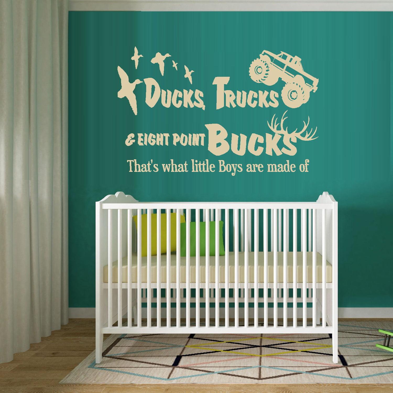 "Decal ~ Ducks, Trucks & Eight Point Bucks: Children Wall Decal Brn 20"" x 31"""
