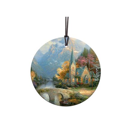 - Trend Setters Thomas Kinkade The Mountain Chapel StarFire Prints Glass Ball Ornament