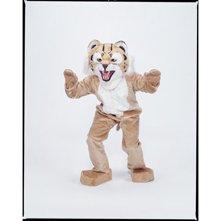 Bobcat Economy Mascot Men's Adult Halloween Costume - Mascot Costume Hire