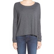 Splendid NEW Gray Women's Size Small S Boat-Neck Textured Blouse $199