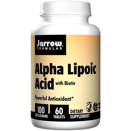 Adult Formula 60 Tablets - Jarrow Formulas Alpha Lipoic Acid, Powerful Antioxidant, 100 mg, 60 Tablets