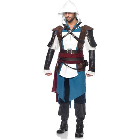 Assassin's Creed 9PC. Edward Men's - Halloween Costumes Assassin's Creed