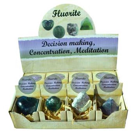 RBI Gemstone Fluorite gift box (set of 12) Magical Crystal Healing Enlightenment ()