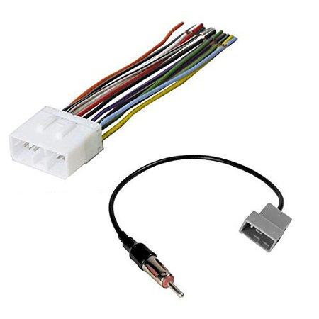 - subaru 1993 - 2007 impreza car stereo radio receiver wiring harness w/ radio antenna adapter