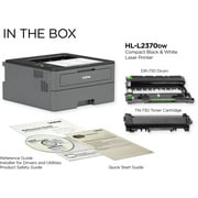 Brother Compact HL-L2370DW USB Wireless Network Ready Black & White Laser Printer
