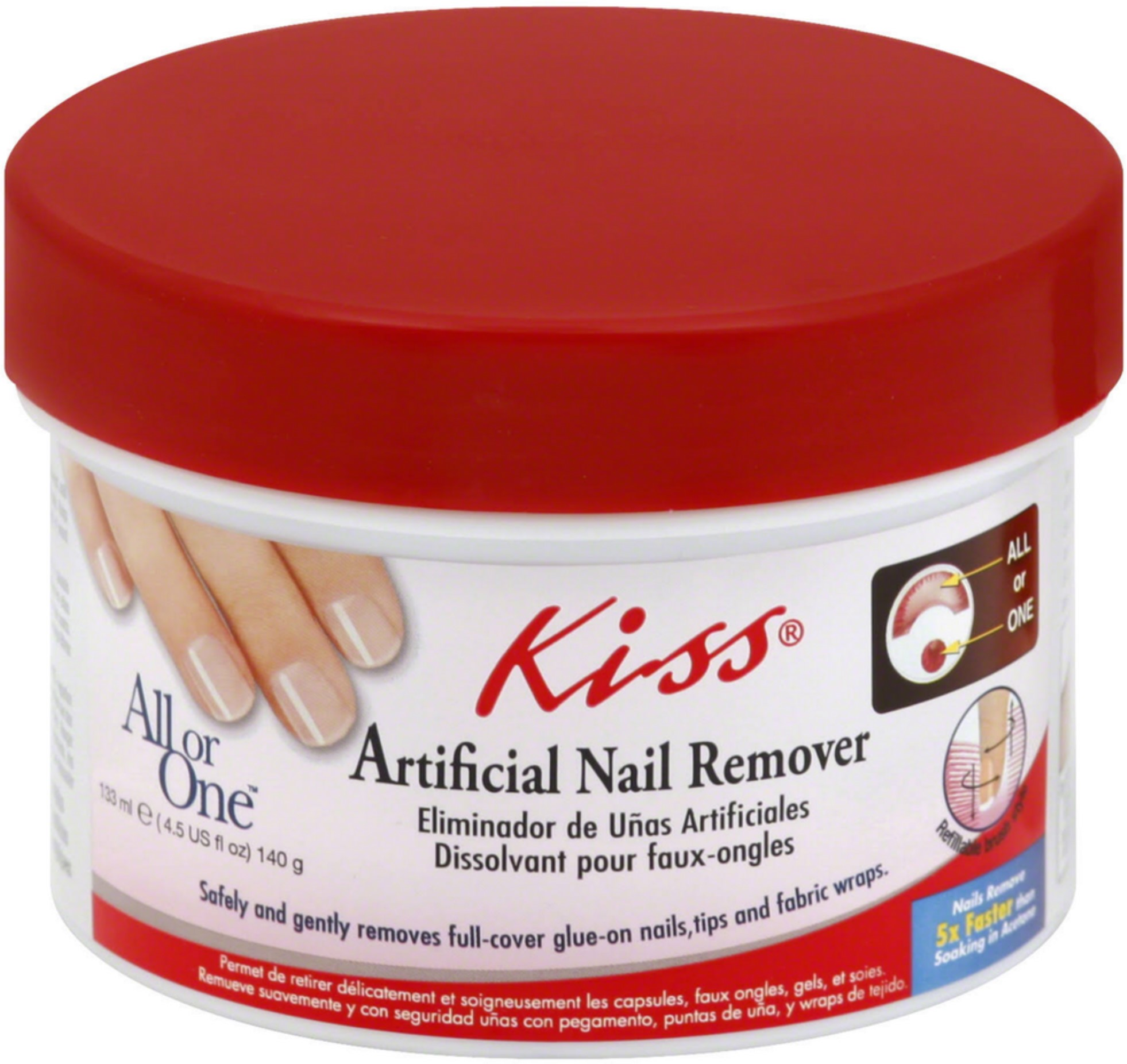 Kiss Products Kiss All or One Artificial Nail Remover, 4.5 oz